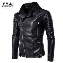 Motociklų odos striukės vyrams rudens žiemos vyrams dirbtinės odos striukės vyriškos verslo atsitiktiniai paltai panko paltai plius dydis M-5XL