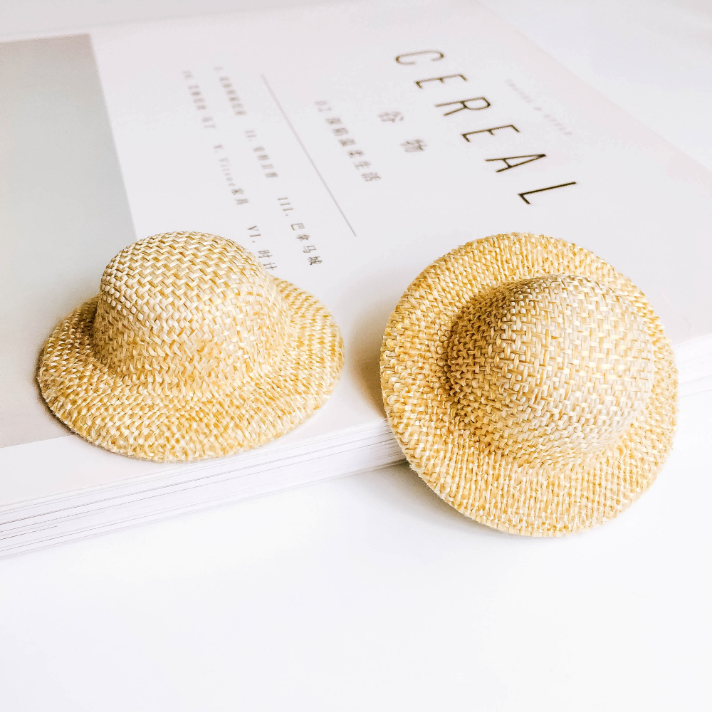Knit Sun Caps Hairpin Accessories Jewelry Finding Diy Handmade Material 6pcs