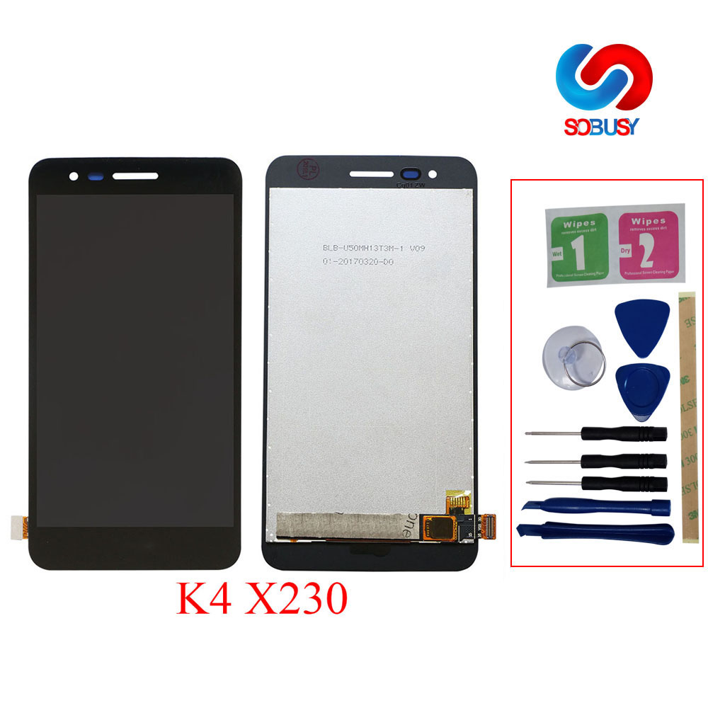 No Dead Pixels For <font><b>LG</b></font> K4 2017 <font><b>X230</b></font> X230DSF <font><b>LCD</b></font> Display Touch Screen Digitizer Panel Glass Senor Ecran Assembly Replacement Parts image
