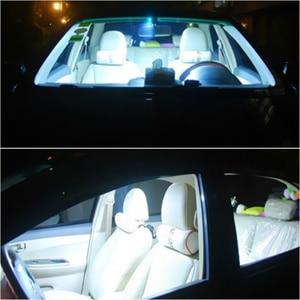 Image 4 - 2 pièces voiture LED dôme lumière 12  SMD CoB voiture Auto intérieur carte dôme plaque dimmatriculation remplacement lumière Kit blanc ensemble de lampe