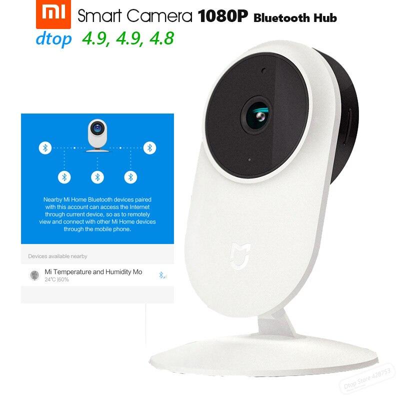Original Xiaomi Mijia 1080P Smart Portable Web IP Cam Bluetooth Hub 130 degree 2.4G/5G Wi-Fi Night Vision TF + NAS Mic Speaker gear shift