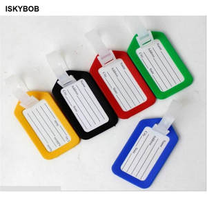 Tag-Holder Labels-Strap Suitcase-Bag Luggage Name-Address Random Plastic ID 1pc