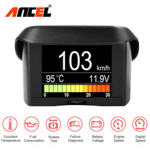 Ancel A202 Car Onboard Computer Fuel Consumption OBD2 Speed Gauge Thermometer Voltage Water Temperature Meter Digital Display