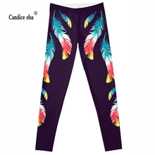 Leggings 2016 Fashion Plus Size Sexy Extra-terrestrial Digital Printing Fitness colour leaves LEGGINGS S-4XL Drop Shipping