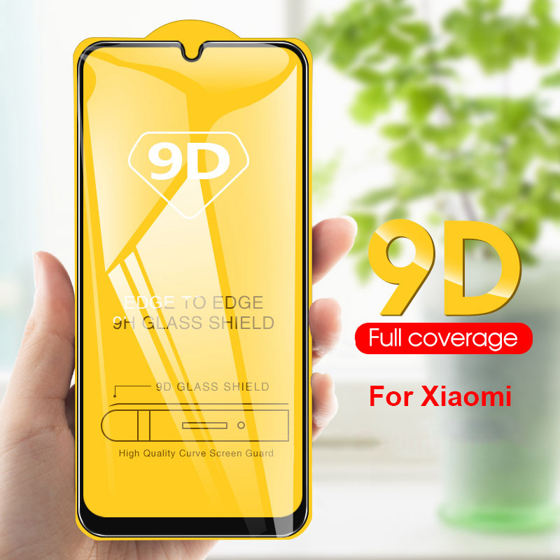 9D Full Cover Screen Tempered Glass For Redmi Note 5 6 7 Pro Phone POCO F1 On 6X  A2 Lite Redmi 5 Plus 6 6A 6PRo Mi 8 9 Se Cc9e