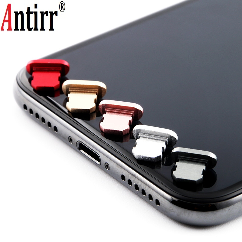 Aluminium Alloy Dust Plug Mobile Phone Charge Port Stopple For Apple IPhone 4 5 5s 6 6s 7 8 X Plus Dustproof Dust Prevent