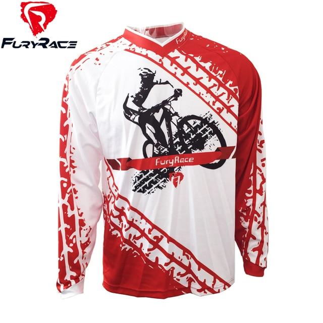 09082a31e99 FURY RACE 2017 Rider Print Cycling Clothing Men s Red DH Downhill MTB  Jerseys Mountain Bike Offroad Racing Riding Bicycle Shirt