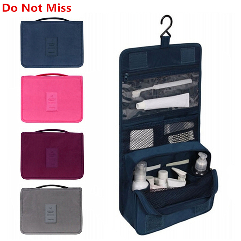 Do Not Miss Women Travel Cosmetic Bags Hanging Wash Bag Makeup Daily Supplies Hanging Toilet Organizer Bag Portable Make up Bags