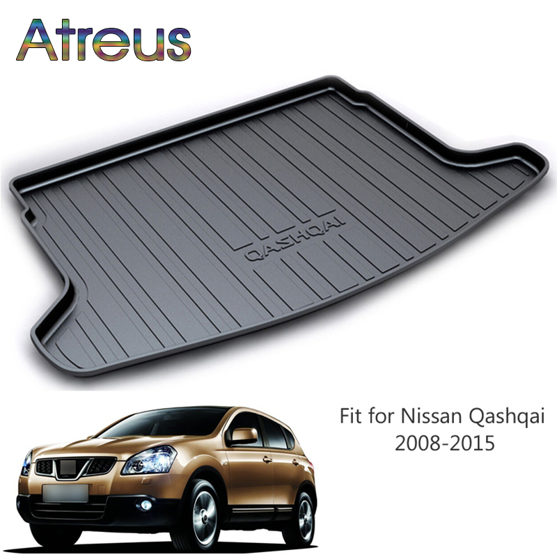 Atreus For 2008-2015 Qashqai J10 Nissan Qashqai Accessories Car Rear Boot Liner Trunk Cargo Mat Tray Floor Carpet Pad Protector atreus for 2015 nissan murano 2016 2017 2018 accessories car rear boot liner trunk cargo mat tray floor carpet pad protector