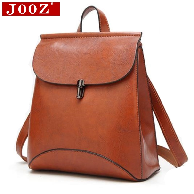 JOOZ Preppy Style women Leather Backpack youth School Backpack Bag For College vintage Bookbags Men male Casual Daypacks jooz preppy style women leather backpack youth school backpack bag for college vintage bookbags men male casual daypacks