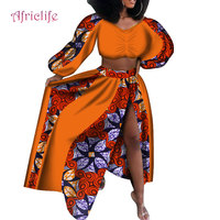 Summer skirt set african dashiki women traditional bazin print plus size dashiki african dresses for women suit 2 pieces WY4040