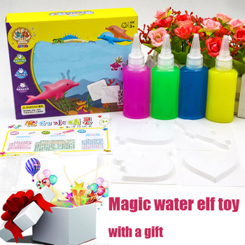 9pcs/set Newest Magic Water Drawing Colorful Handmade DIY Kids Montessori Early Education Fairy Ocean Magical Toys For Children