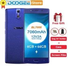 DOOGEE BL7000 4 GB RAM 64 GB ROM Android 7.0 MTK6750T Octa Çekirdekli 1.5 GHz 5.5 ''FHD Smartphone 3 kameralar 13.0MP + 13.0MP 7...