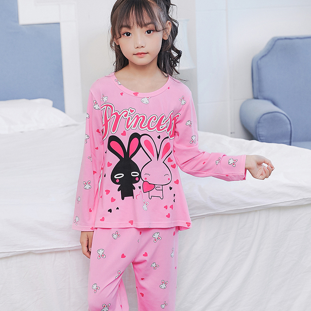 e4d7e081a863 New Children Clothing Autumn Pyjamas Girls Baby Pajamas Cotton ...