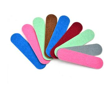 2000pcs express delivery  shipping free  2- side candy color  wood Nail File 150 Disposable Manicure Tools