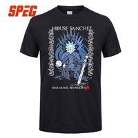 Rick And Morty Game Of Thrones T Shirt House Sanchez Funny Tee Shirts Men Round Collar