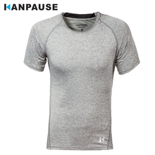 New Arrival KANPAUSE Men's Compression Tights Running T-shirts Short Sleeve Training T-shirt Fitness Sportswear