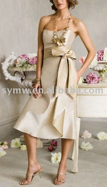 Hot sale wholesale satin bridesmaid dress  sy113558