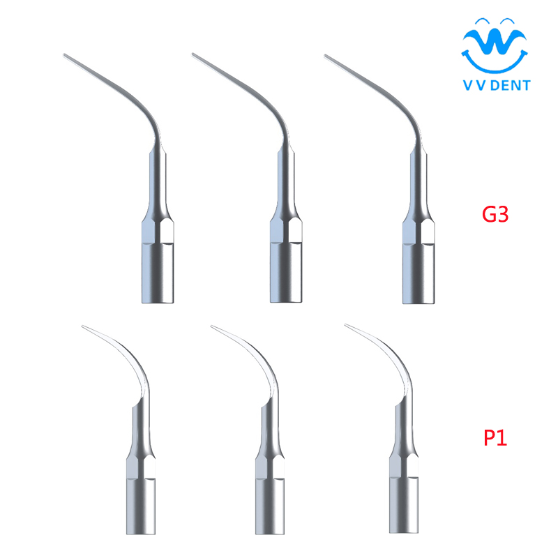 G3/P1 6Pcs Woodpecker Dental Scaler Scaling Tips Fit Dental Equipment EMS&WOODPECKER for Oral hygiene and health