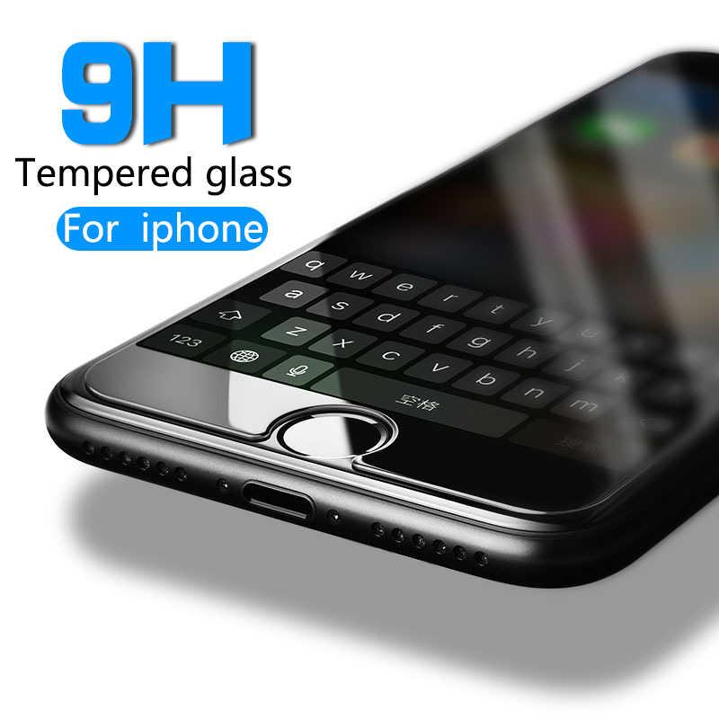 Pelindung Anti Gores untuk iPhone 6 7 6 6S Plus 11 Pro XS Max XR Kaca iPhone 7 8 X Layar pelindung Kaca Di iPhone 7 6S 8