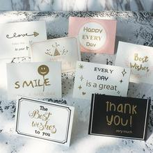 30 Pcs/lot DIY Handmade Mini Paper Folding Greeting Cards Kids Happy Birthday Gift Thank You