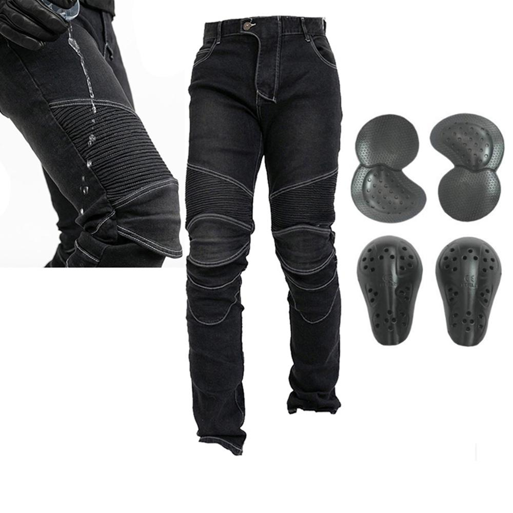 2019 Waterproof Men Motorcycle Riding Pants Motocross Racing Jeans With 4 X Knee Hip Pads For Moto Off Road ATV Street DirtBike