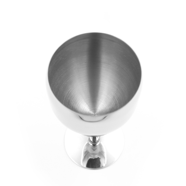 Round Stainless Steel Wine Glass