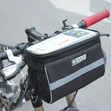 Rainproof Bike Bag Large Capacity Handlebar Front Tube Bag Bicycle Poc