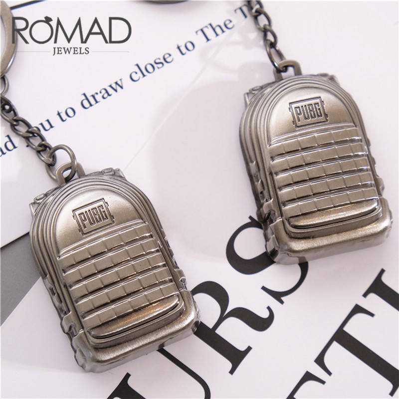 ROMAD PUBG Backpack Keychain Level 3 Game Player Unknowns Battleground Surrounding Alloy prop Cosplay Props R4