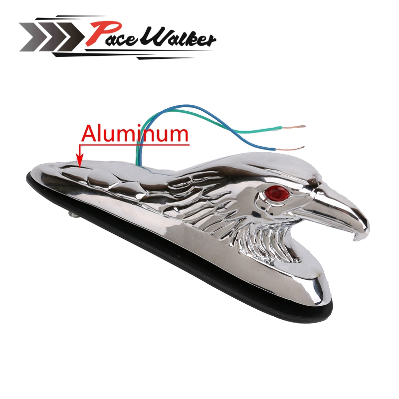 цена Motorbike black Chrome Eagle Head Ornament Statue For Motorcycle motorbike ATV Front Fender Frames & Fittings онлайн в 2017 году
