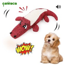 3 color pet toys chew squeaker stuffed animal dog vocal crocodile toy for dogs cat chew chirping plush toy for pet supplies