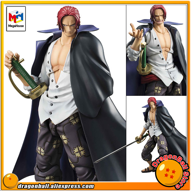 Japan Anime ONE PIECE Original MegaHouse Variable Action Heroes Action Figure - Red-Haired Shanks japanese anime one piece original megahouse mh variable action heroes vah action figure portgas d ace
