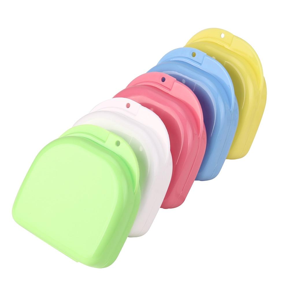 Random Colors Denture Bath Appliance False Teeth Box Storage Case Rinsing Basket Jul14 Drop Shipping MG