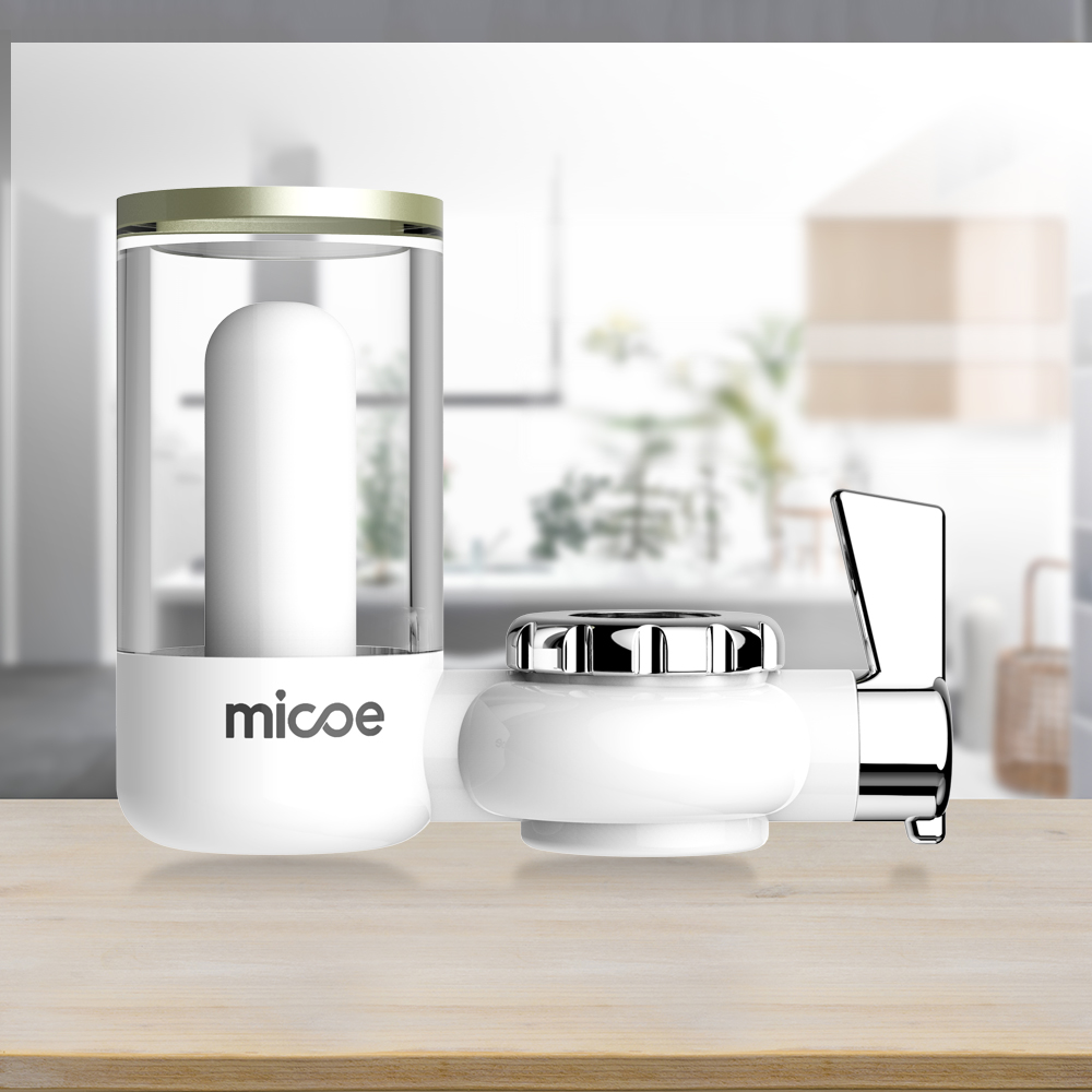 Micoe Water Purifier Filter Faucet Filtration System with Washable Ceramics Filter Core (faucet filter H-D2001W-6)
