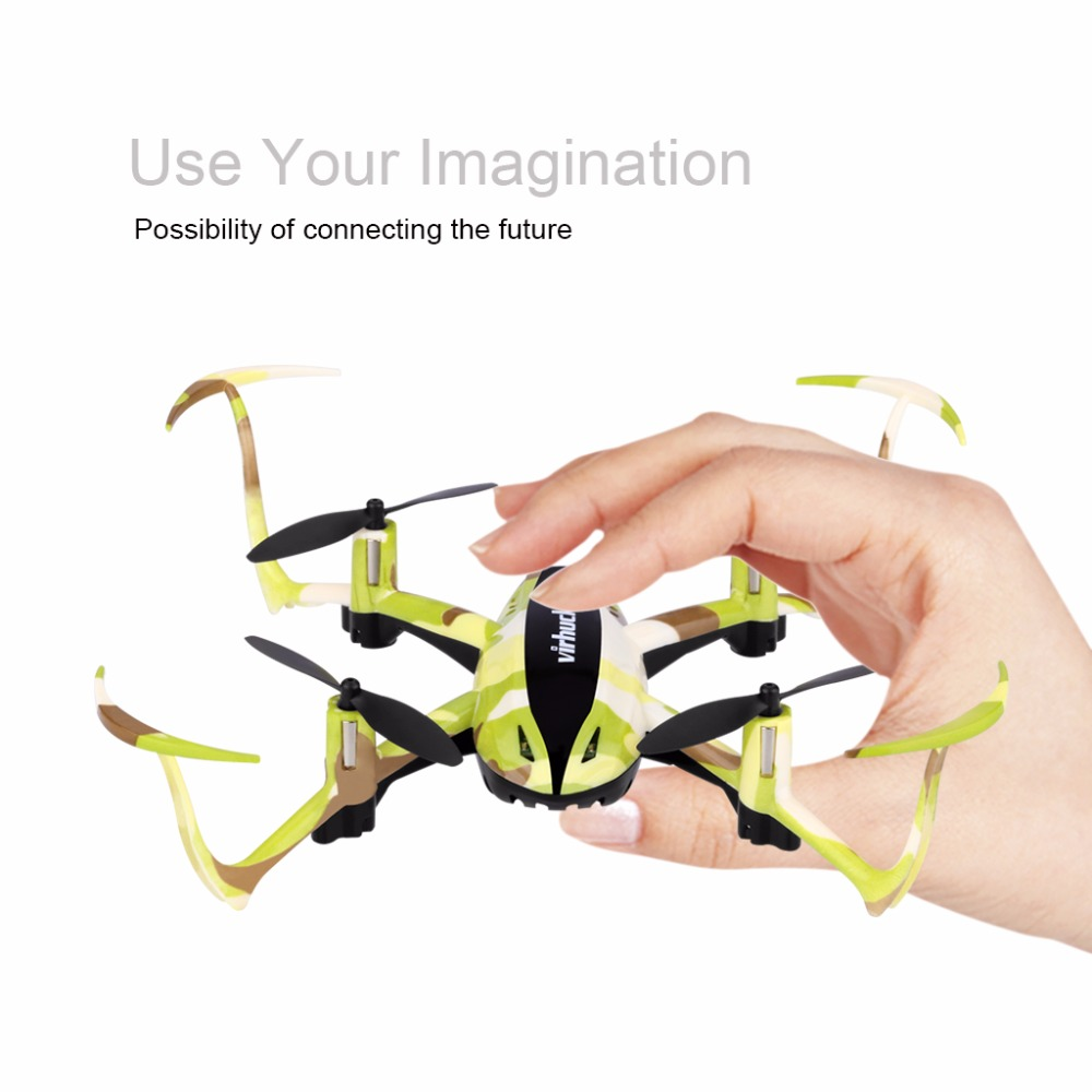 Newest Virhuck T915 RC Drone 2.4 GHz 4 CH 6 Axis Mini Drone with One Key Return Mode rc helicopter quadcopter dron RTF Toy Gift