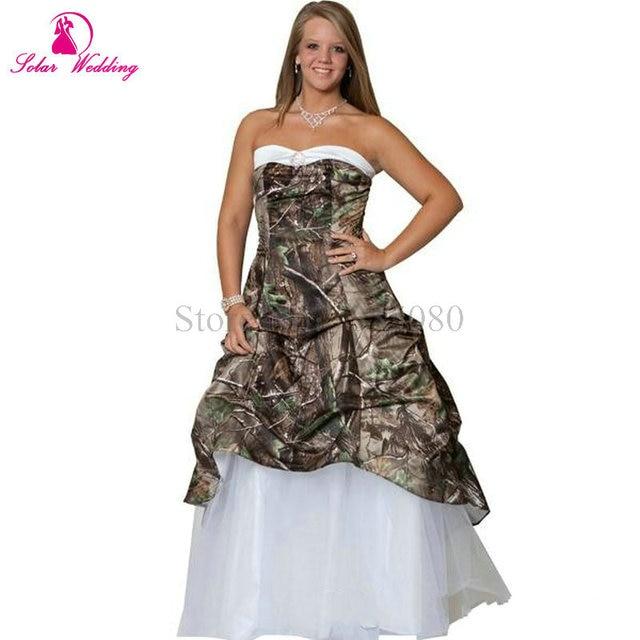 2016 White Camouflage Wedding Dresses With Beaded Camo Wedding ...
