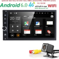 1G RAM 4G Quad Core Android 6 0 2din New Universal Car Radio Double Car DVD
