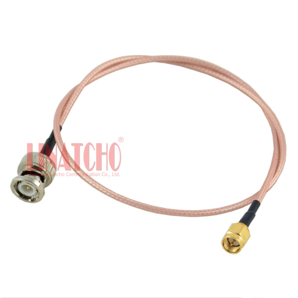 "RG316 8/"" SMA Plug to UHF SO239 Bulkhead Jack ~ Ham Radio Antenna RF Teflon Cable"
