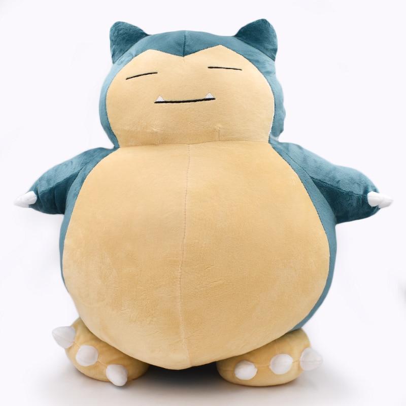 2017 1PCS 50cm Plush Toy Snorlax Plush Anime New Rare Soft Stuffed Animal Doll Pillow For Kid Gifs KaBiShou