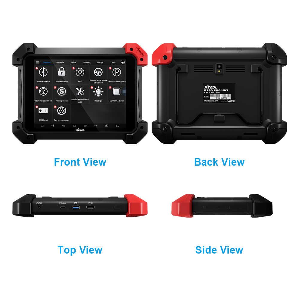 2019 XTOOL PS90 PRO автомобильный OBD2 автомобильный диагностический инструмент BT/WIFI автоматический ключевой программист и регулировка одометра EPS обновление онлайн