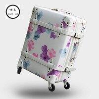 ヴィンテージ荷物、桜レトロ旅行スーツケース