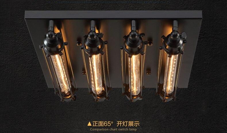 Plafoniere Led Vintage : Industrielle decke licht edison birne retro lichter vintage