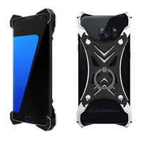 R Just For Samsung Galaxy S7 Edge Case Bumper Frame Shockproof Aluminum Metal Case Armor For