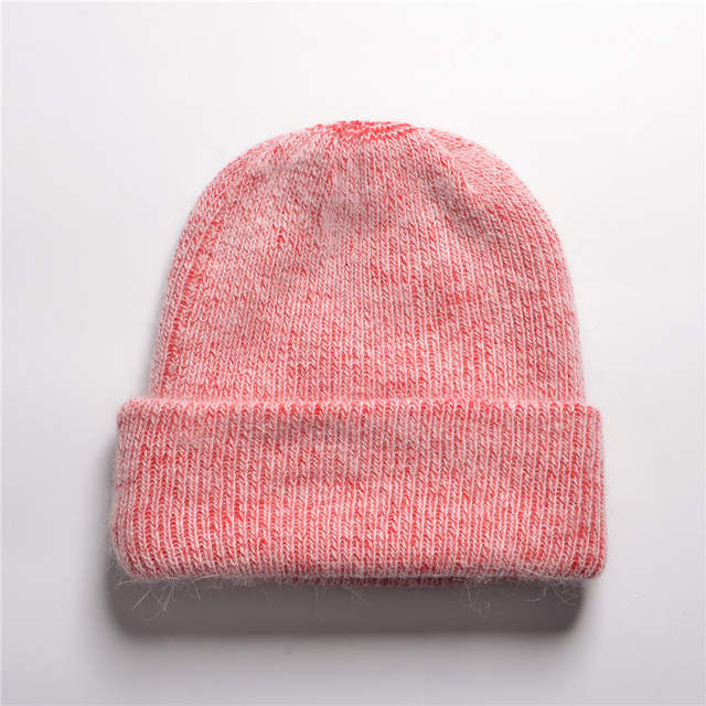 98c8f64950d Women Winter Cashmere Hats Beanie Hat Ladies Knit Hats For Women Rabbit Fur  Caps Soft And