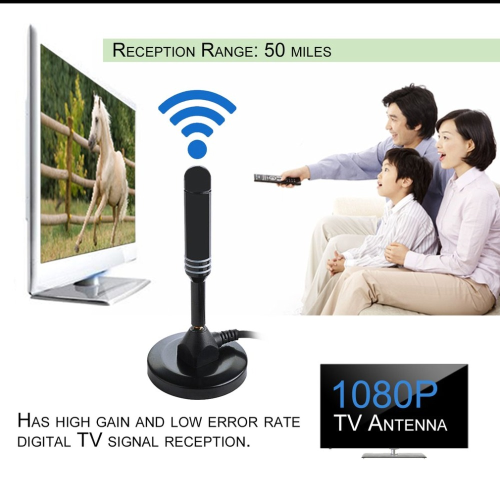 1080P 50 Miles Range High Gain HDTV Antenna TV Antenna Indoor Signal Receiver Aerial Booster Televison Receivers 2400 2483mhz 2 4ghz 8dbi hi gain outdoor log periodic dipole antenna aerial signal booster with n female connector 290x210x60mm