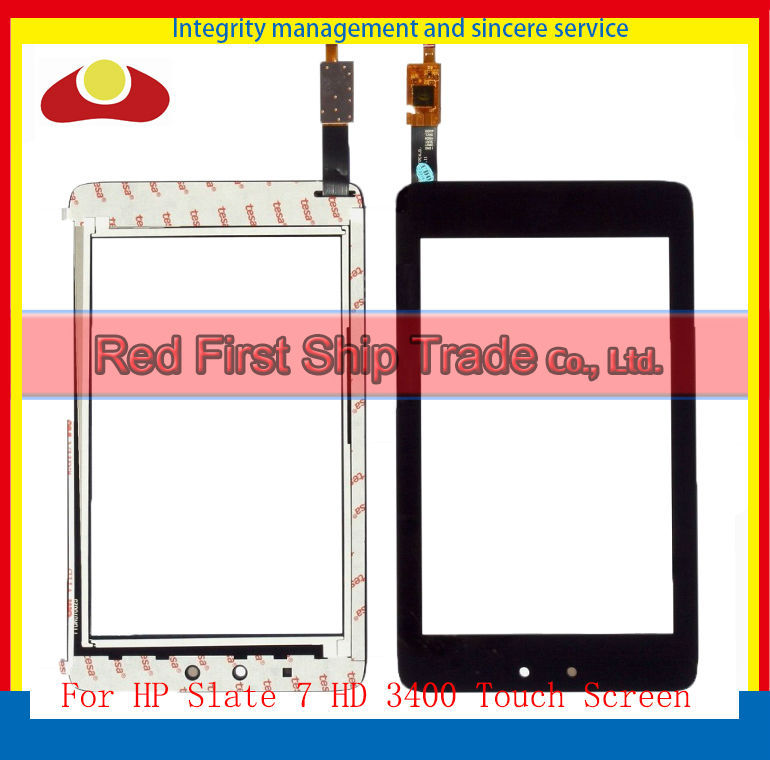 High Quality 7 For HP Slate 7 Slate7 HD 3400 Touch Screen With Digitizer Panel Front Glass Lens Free Shipping