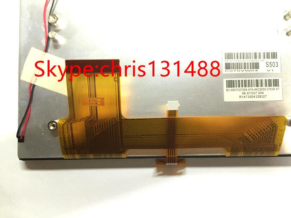 1PCS AUO 7 inch C070VW04 V6 For Audi Q5 Car GPS Navigation LCD display screen