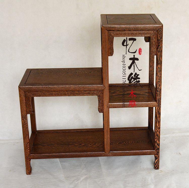 Dongyang mahogany furniture wood a few flower bonsai frame wooden frame level phone vase dongyang