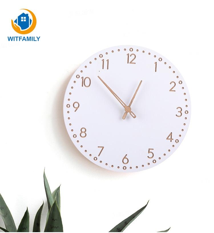 Explosion Models Roman Numerals Wall Clock Modern Minimalist Wooden Clock European Fashion Atmosphere Clocks Round Home Clock