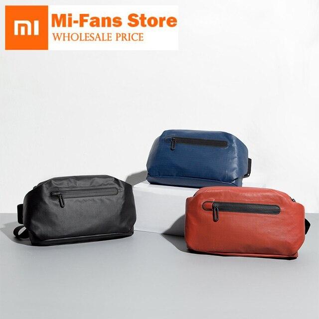 Original xiaomi mijia 90 pontos Bolso moda saco pacote de cintura mochila 2 tipos de formas negativas barra De luz de Advertência à prova d' água